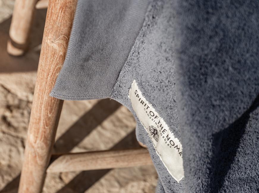 Spirit of the Nomad Egyptian Cotton Foggy Blue